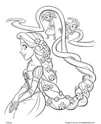 disney tangled coloring pages printable | Free Printable Tangled Coloring ges