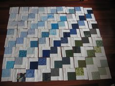 """Use 5"""" charms for this.  Looks like a quick quilt to make."""
