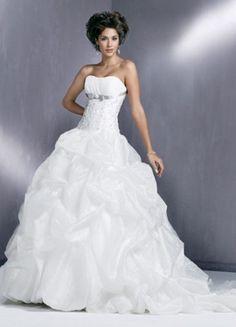 robe de mariée princesse ruban sous poitrine