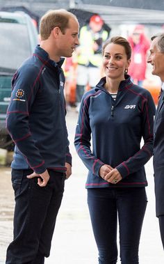 Prince William, Duke of Cambridge and Catherine, Duchess of Cambridge at the Portsmouth Historical Dockyard as they attend the America's Cup World Series event on July 26, 2015 in Portsmouth, England.