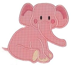 Baby Elephant Applique - 3 Sizes!   Baby   Machine Embroidery Designs   SWAKembroidery.com Applique for Kids