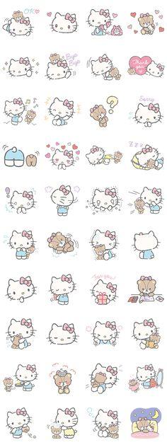 Hello Kitty (with Tiny Chum) - LINE Sticker