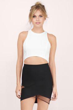 Maylie Mesh Mini Skirt at Tobi.com #shoptobi