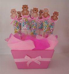 Centros de mesa con osos para baby shower - Imagui