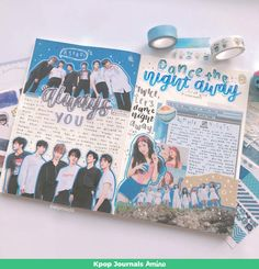 Kpop inspired planner and bullet journal spread with ASTRO 아스트로 - 너잖아 (Always You) from album Rise Up and Twice Dance the Night Away. Bullet Journal Notes, Bullet Journal Aesthetic, Bullet Journal Spread, Bullet Journal Ideas Pages, Bullet Journal Inspiration, Scrapbook Journal, Journal Layout, Cute Journals, Journal Covers