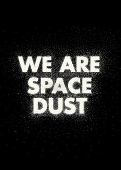We are Space Dust - by Joe Van Wetering
