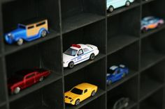 Wall storage for all of those matchbox car collection!