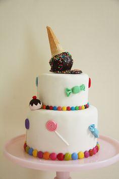 lollipop and ice cream cake