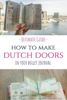Junkies' Ultimate Guide to Dutch Door Layouts in your Bullet Journal. Great for weekly or monthly spreads!Journal Junkies' Ultimate Guide to Dutch Door Layouts in your Bullet Journal. Great for weekly or monthly spreads! Bullet Journal Inspo, Bullet Journal Monthly Log, Bullet Journal Junkies, Bullet Journal Ideas Pages, Bullet Journal Spread, My Journal, Bullet Journals, Journal Pages, Bullet Journal For Teachers