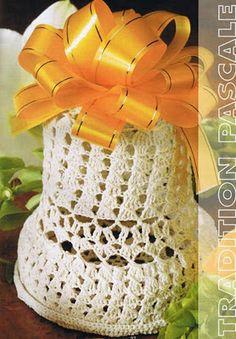 Crochet bell (campanita) with diagram