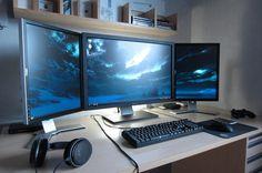 Triple Monitor Gaming Setup   Toko Hobi Mainan