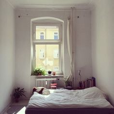 white minimal bedroom