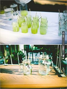 mason jars are really so perfect for signature drinks at your wedding   CHECK OUT MORE IDEAS AT WEDDINGPINS.NET   #weddingfood #weddingdrinks