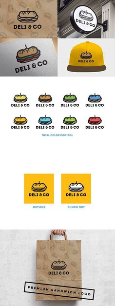 Welcome to my shop! This pack includes a fully outlined premium cafe sandwich shop logo. Re-color the logo to create your own personal version! Sandwich Names, Sandwich Shops, Best Sandwich, Bakery Slogans, Bakery Logo, Industrial Coffee Shop, Coffee Shop Branding, Food Design, Cafe Design