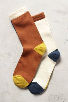 Mismatched Crew Socks - anthropologie.com