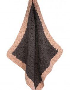 Organic Cotton. Crochet baby blanket