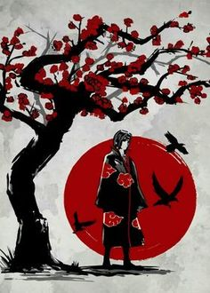 Metal Poster Itachi Uchiha