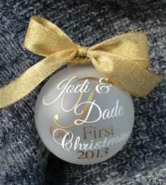Our First Christmas Ornament. Even though we have been together almost 3 years...it is our first year married!