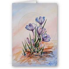 Spring crocuses cards