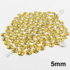 Sequin thermocollant rond - DORE HOLOGRAMME - 5mm - x 150