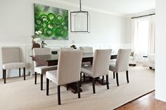 Dining Room Before and After: Classic + Elegant - Vanessa Francis Interior Design Elegant Dining Room, Beautiful Dining Rooms, Dining Room Design, Traditional Dining Rooms, Wooden Dining Tables, Upholstered Dining Chairs, Home Interior Design, Casual, Sarah Richardson