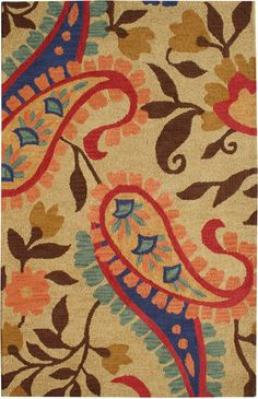 Dynamic Rugs Florence Amber Transitional Paisley Rug