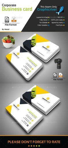 Business Card Template for $6 - Envato Market