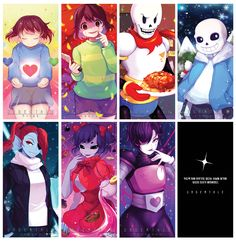 The monsters of undertale