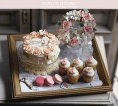 VICTORIANAGE: ..A MINIATURE TEA WITH A MINIATURE CAKE ..