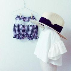 ハンドメイド子供服のお店です。リバティやリネンのおしゃれなお洋服&小物を揃えています。親子お揃いのお洋服も Kids Outfits Girls, Cute Outfits For Kids, Toddler Girl Outfits, Cute Kids, Kids Girls, Baby Kids, Girls Dresses, Mama Cloth, Baby Couture