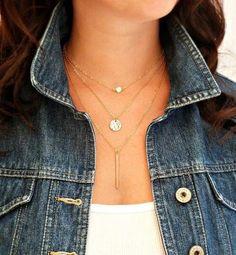 3 Tier Crystal Necklace