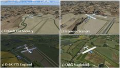FSX OrbX Stapleford Aerodrome Comparison Screen Captures