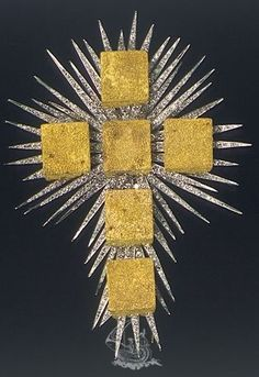 The Gold Cube Cross - jewelry by Salvador Dali, Figueres, Spain. Salvador Dali, Cross Jewelry, Jewelry Art, Jewelry Design, Glasgow Museum, Ruby And Diamond Necklace, Christen, Sacred Heart, Cross Pendant