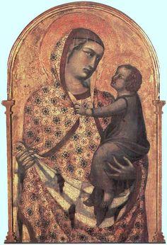 La tavola centrale del polittico dipinto da Pietro Lorenzetti nel 1320 per la Pieve di Santa Maria di Arezzo, la chiesa nella quale fu battezzato Giorgio Vasari il 30 luglio 1511: Il certificato di battesimo è stato recentemente ritrovato nell'archivio della Fraternita