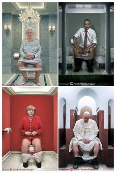 World Leaders Doing Their 'duty' by Photographer Cristina Guggeri #Art, #Photography, #World