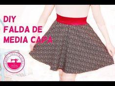 Modelagem Saia Gode + Zíper invisível. Passo a Passo!!!! - YouTube Diy Shorts, Skirt Patterns Sewing, Sewing Clothes, Sewing Tutorials, Tutu, Cheer Skirts, Kids Fashion, High Waisted Skirt, Girls Dresses