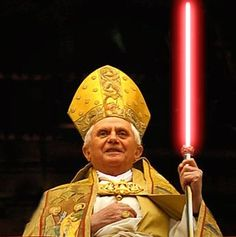 Star Wars - Pope with light saber