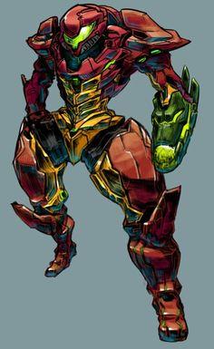 Heavy armor Samus.