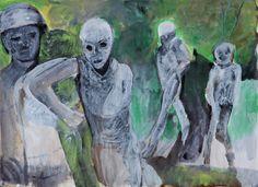 Série Sombras do Medo, 2012 tinta da China, sépia e acrílico sobre papel 29,7 x 40,5 cm Colecção Graça Morais