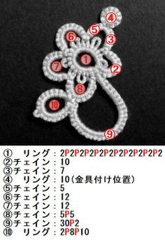【タティング】花モチーフ④【モチーフ】の作り方|編み物|編み物・手芸・ソーイング|作品カテゴリ|アトリエ
