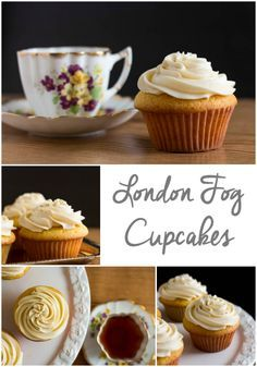 A delicate and flavorful vanilla cupcake topped with Earl grey tea buttercream. Together they make a beautiful pairing.