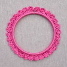 Crochet around an Embroidery Hoop