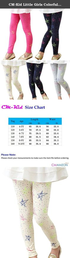 CM-Kid Little Girls Colorful Dots Star Thermal Winter Cotton Leggings Tights Pants. Original CM-Kid Apparel Condition:100% Brand New. Item location: China Item includes: One leggings-pants Size:4-10Y,please refer to detail size chart in the picture. Note: Asian size is smaller than US/EU/UK size so please check your measurements to make sure the item fits before ordering. Warm prompt: The light and the display resolution and other reasons, pictures and objects may slightly colour…