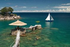 Awesome view of Lake Malawi in Africa.