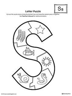 Letter S Activities, Letter S Worksheets, Jolly Phonics Activities, Preschool Letter Crafts, Alphabet Letter Crafts, Phonics Worksheets, Preschool Learning Activities, Letter Tracing, Handwriting Worksheets