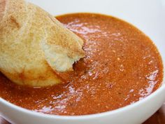 Fire-Roasted Tomato Bisque.     I made this yesterday. Amazingly delicious!    Now on regular rotation in my household.