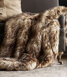 Exotic Faux Fur Throw - Siberian Red Fox from Restoration Hardware. Saved to Home Decor 🏡. Faux Fur Blanket, Faux Fur Throw, Fall Home Decor, Autumn Home, Adams Furniture, Fur Decor, Fur Pillow, Pillows, Cushions