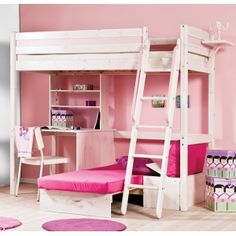 Thuka Trendy 29 High Sleeper Next Day Delivery From WorldStores Everything For The Home Cherri Whitewash Bed