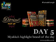 Day 5 - Myakka's Highlight Brand for #FairtradeFortnight - Mmm more chocolate! To celebrate Fairtrade Fortnight, #Divine is opening the doors to its first ever POP UP shop! You'll find us them: 71 Monmouth Street, WC2H 9DG 25th February to 9th March 2013 10am – 6.30pm Monday - Saturday 12noon - 6pm Sunday