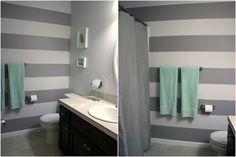 Grey and white stripes (bathroom)